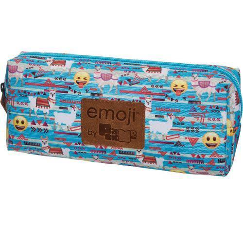 Estojo Tecido Emoji Lhama Grande 1 Zíperes