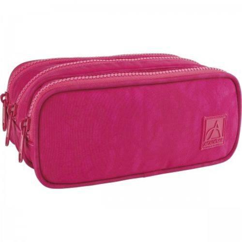 Estojo Triplo Academie Pink Tilibra