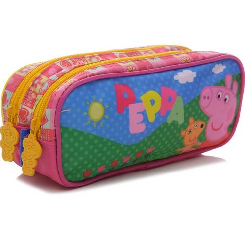 Estojo Xeryus Duplo Sunny Day Rosa e Verde Peppa Pig