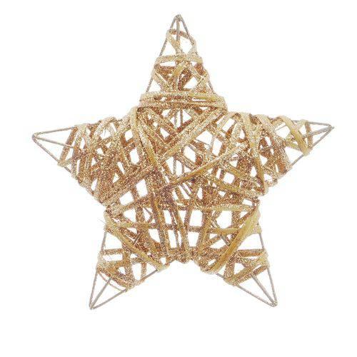 Estrela Decoração Natal 20cm Nude