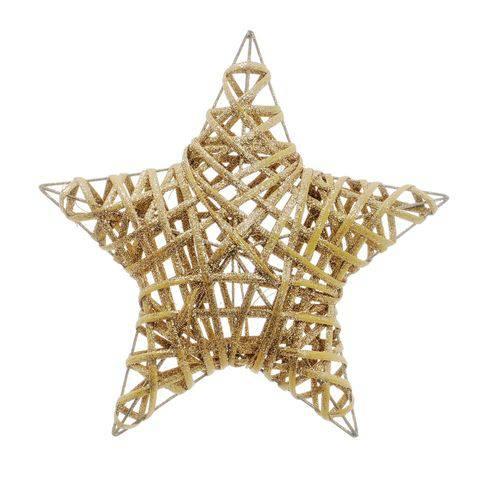 Estrela Decoração Natal 30cm Nude