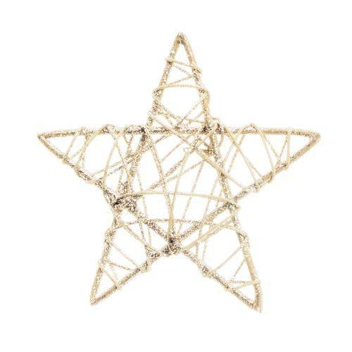 Estrela Decoração Natal 15cm Nude