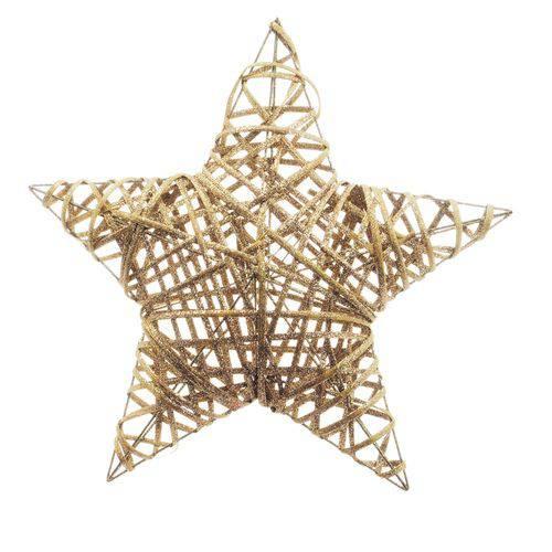 Estrela Decoração Natal 40cm Nude