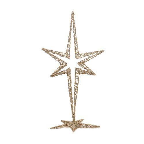 Estrela Decoração Natal 44cm Nude