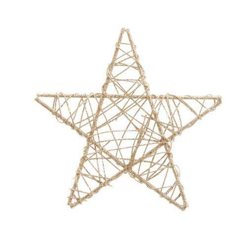 Estrela Decoração Natal 25cm Nude