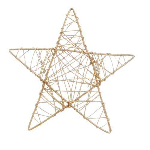 Estrela Decoração Natal 35cm Nude