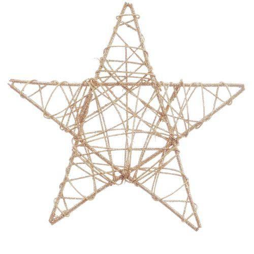 Estrela Decoração Natal Nude 30cm