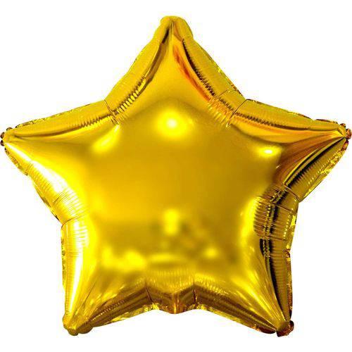 Estrela Ouro 45cm.