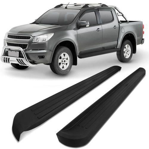 Estribo Lateral Plástico Injetado S10 2012 a 2019 Cabine Dupla Preto Modelo Original
