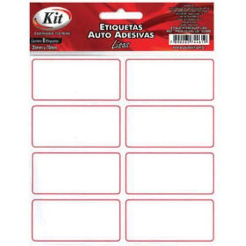 Etiqueta Escolar Tarja Vermelha S/pauta Ct.c/08 Cx.c/24 Kit