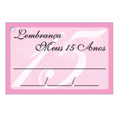 Etiqueta Lembrança 15 Anos Rosa