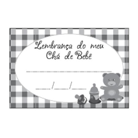 Etiqueta Lembrança Chá de Bebê Ursinho Preto
