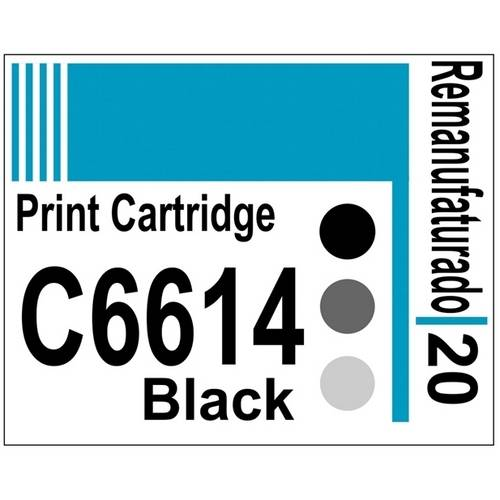 Etiqueta para Cartucho Hp20 Black (C6614) - 10 Unidades