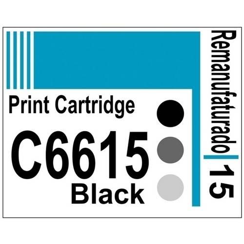 Etiqueta para Cartucho Hp15 Black (C6615) - 10 Unidades