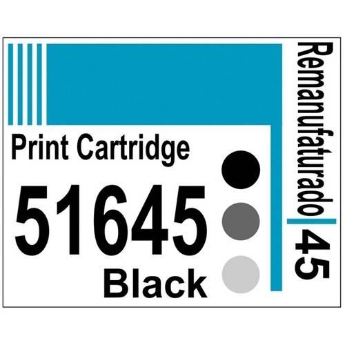 Etiqueta para Cartucho Hp45 Black (51645) - 10 Unidades