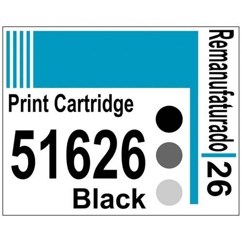 Etiqueta para Cartucho Hp26 Black (51626) - 10 Unidades