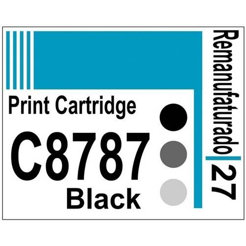 Etiqueta para Cartucho Hp27 Black (C8727) - 10 Unidades