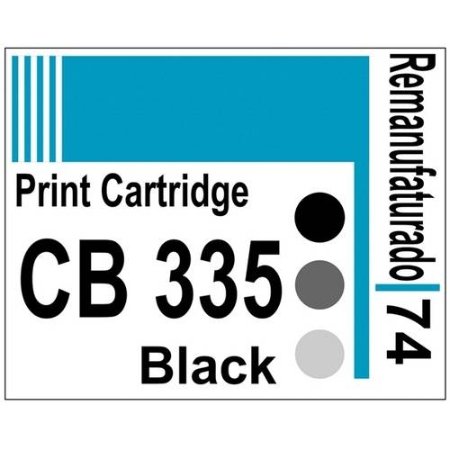 Etiqueta para Cartucho Hp74 Black (Cb335) - 10 Unidades