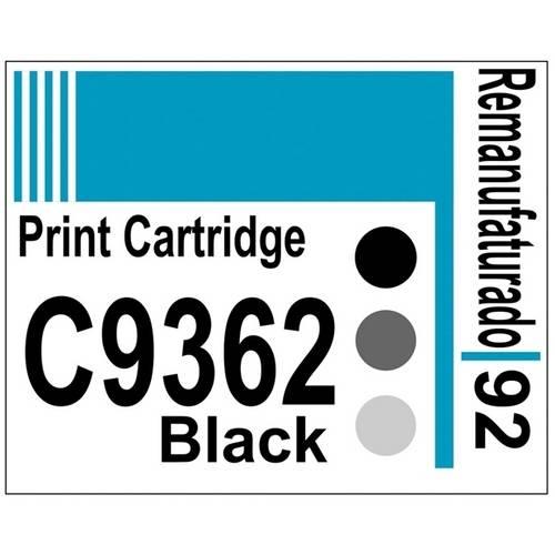 Etiqueta para Cartucho Hp92 Black (C9362) - 10 Unidades