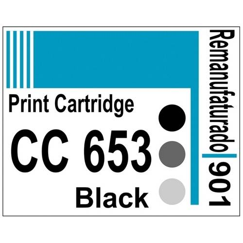 Etiqueta para Cartucho Hp901 Black (Cc653) - 10 Unidades