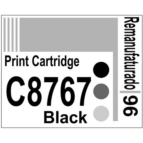 Etiqueta para Cartucho Hp96 Black (C8767) - 10 Unidades