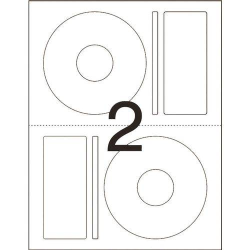 Etiqueta para Cd e Dvd Cd10b Carta 10 Fls 115 Mm Pimaco Ct.c/20