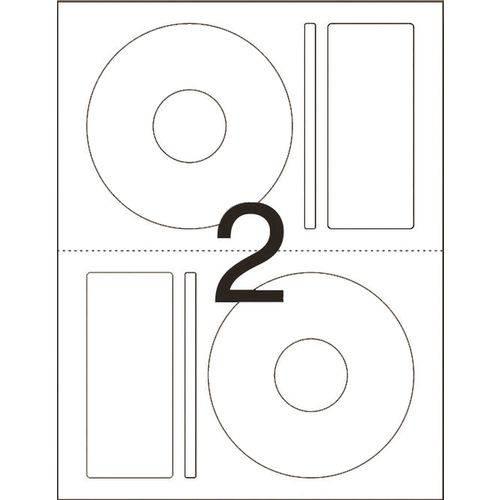 Etiqueta para Cd e Dvd Cd25b Carta 25 Fls 115 Mm Pimaco Ct.c/50