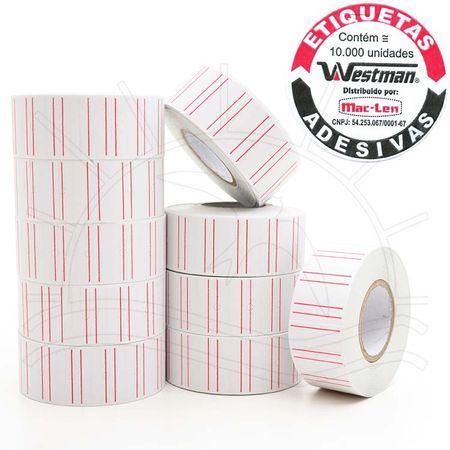 Etiquetas Adesivas M-14 Tarja para Etiquetadora Westpress