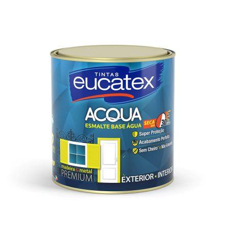 Eucatex ACQUA Esmalte Brilhante Base Água 0,9 Litro Branco