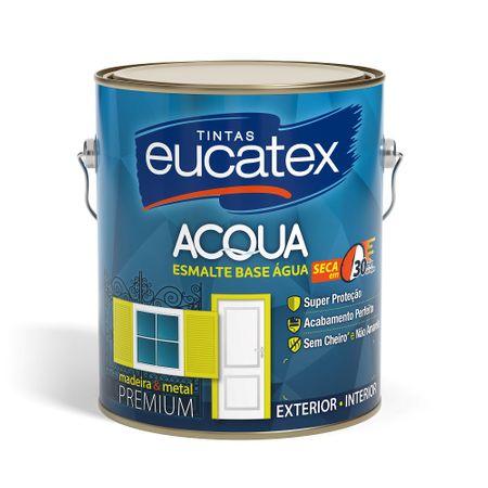 Eucatex ACQUA Esmalte Brilhante Base Água 3,6 Litros Branco
