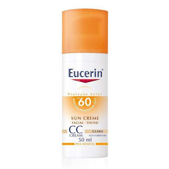 Eucerin Protetor Solar Facial Fps60 Sun Creme Cc Cream Claro 50ml