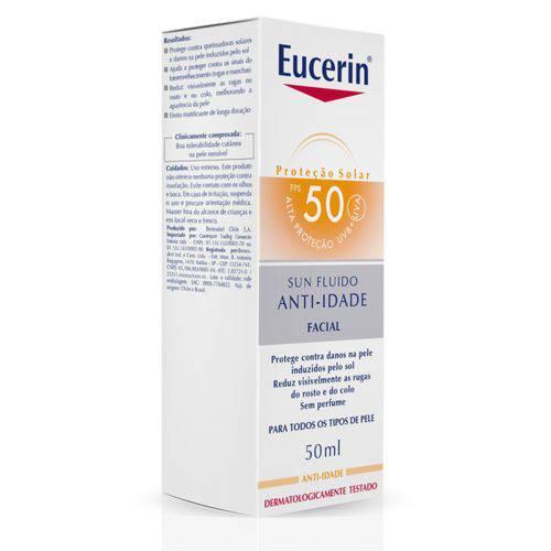 Eucerin Sun Fluid Anti Age Protetor Solar Fps 50