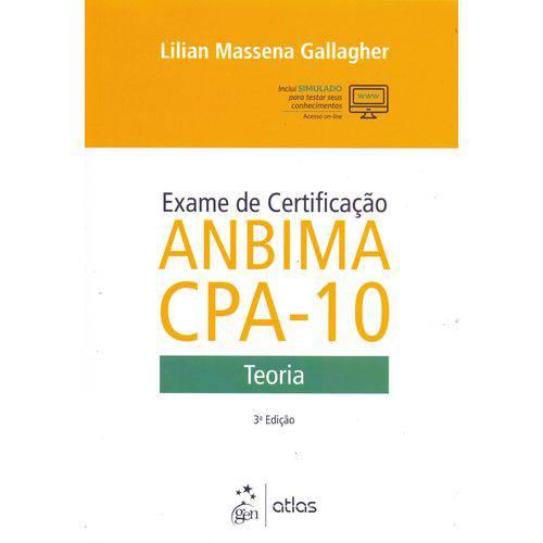 Exame de Certificacao Anbima Cpa-10 - 03ed/18