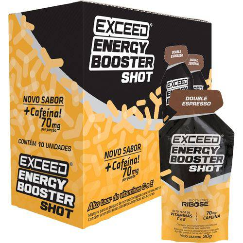Exceed Energy Booster Shot + Cafeína 70mg (10sac. X 30g) - Exceed - Double Expresso