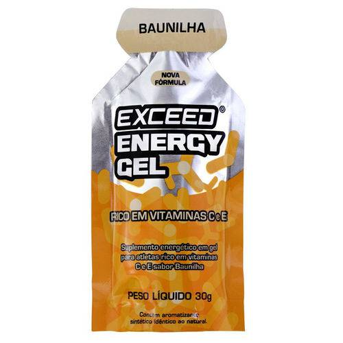 Exceed Energy Gel Baunilha – Caixa 10 Sachês