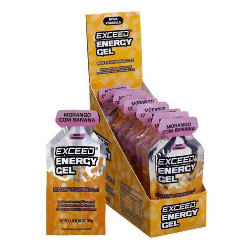 Exceed Energy Gel Morango com Banana – Caixa 10 Sachês