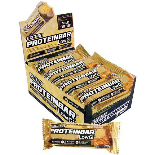 EXCEED PROTEIN BAR LOW GI (12UN.x40G) - EXCEED