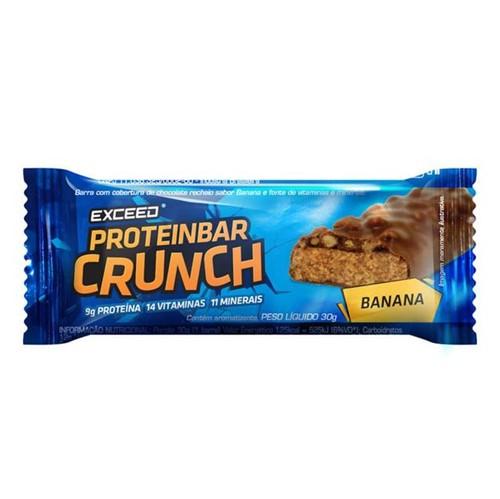 Exceed ProteinBar Crunch - 1 Unidade - Banana