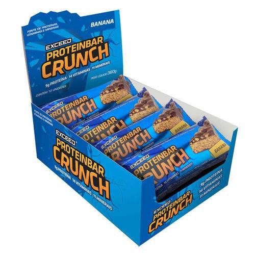 Exceed ProteinBar Crunch - 12 Unidades - Banana
