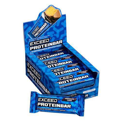Exceed Proteinbar Display C/ 12 Unidades - Chocolate Fudge