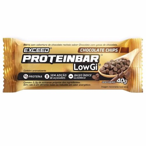 Exceed ProteinBar Low Gi Chocolate Chips - 1 Unidade