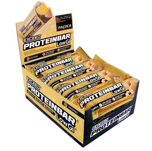 Exceed ProteinBar Low Gi Paçoca – Caixa 12 Unidades