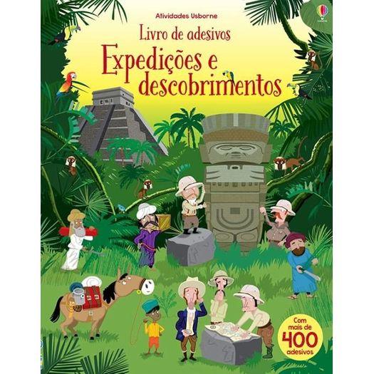 Expedicoes e Descobrimentos Livro de Adesivos - Usborne