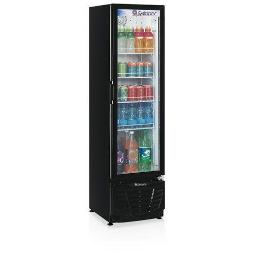 Expositor de Bebidas GPTU230 Gelopar Refrigerador 230 Litros Preto 110v