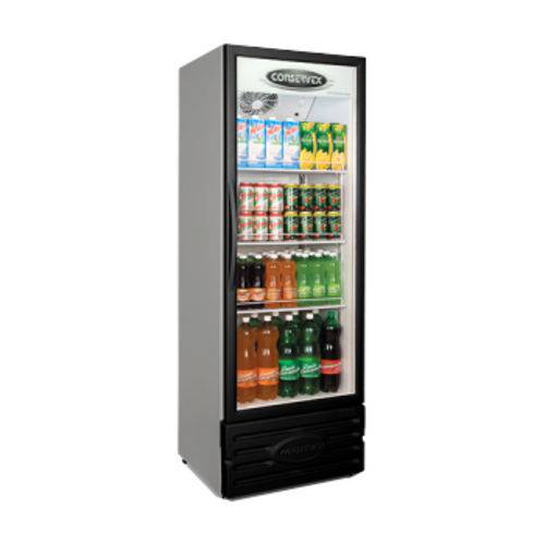 Expositor Refrigerado Vertical 400 Litros Mod. Novo Porta Preta ERV-400/P