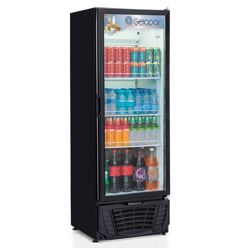 Expositor Refrigerado Vertical Gelopar 414 Litros Frost Free Preto Porta de Vidro GPTU-40PR