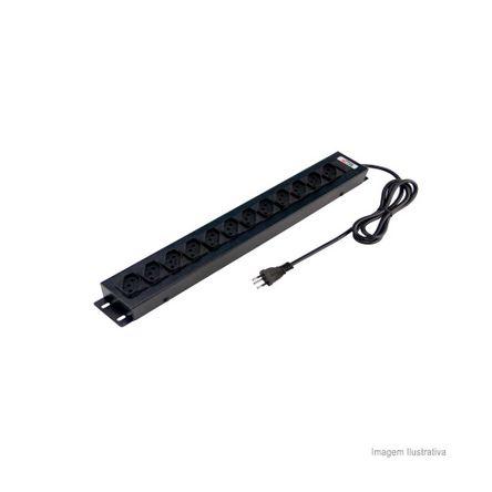 Extensão Elétrica Régua com 12 Tomadas 10A Forceline