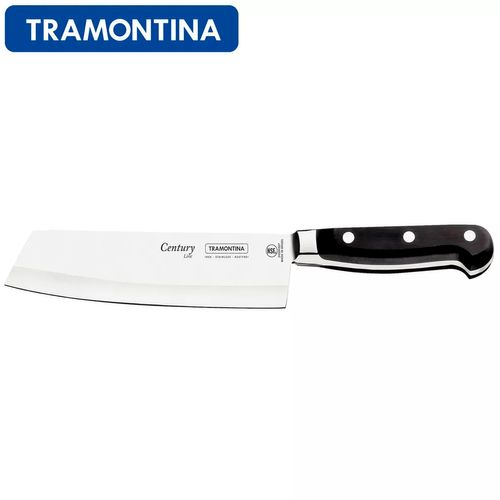 "Faca Chef Cromo com Cabo de Policarbonato 7"" Century - Tramontina"
