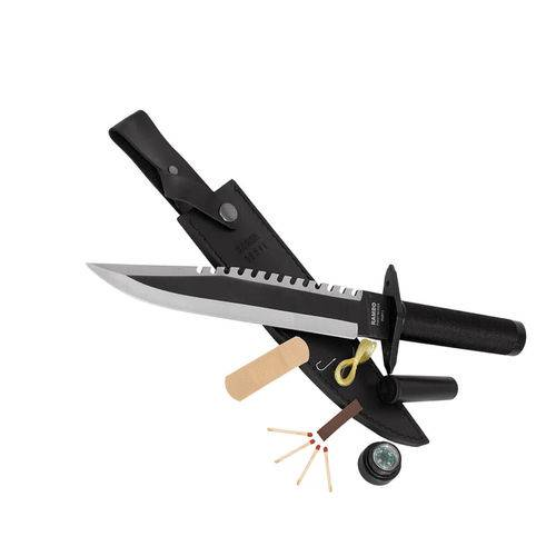 Faca Rambo 1 Original 36cm Preto - First Blood