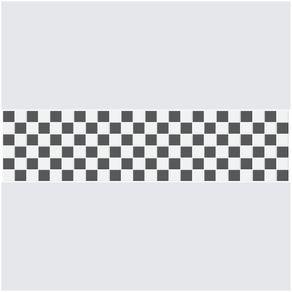 Faixa Adesiva de Parede para Cozinha Xadrez FD11037